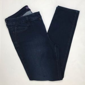 NYDJ dark wash denim blue skinny legging jeans